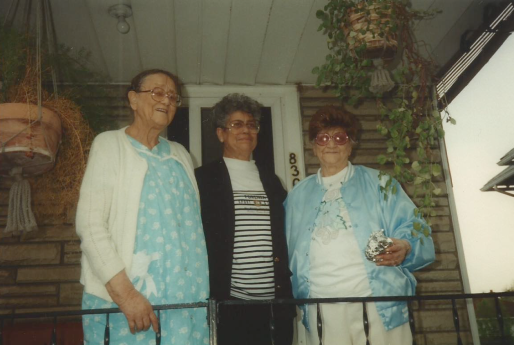Gladys, Gloria and Adelaide Johnson