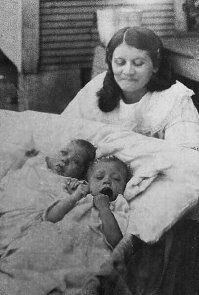 Courtesy of Saundra: Cora (Triplette) Johnson and Twins; Mary and Madie