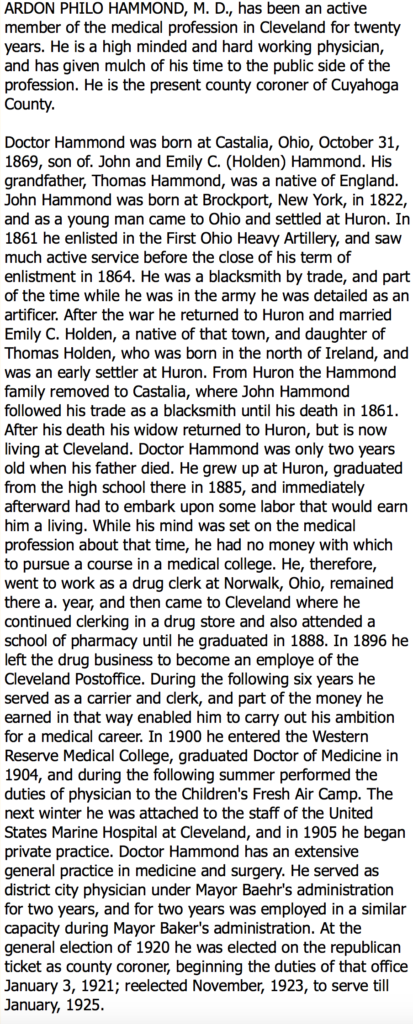 Biography of Coroner 1