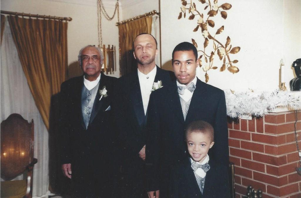 Otho Johnson, son Donald, grandsons Mickey & Marcus