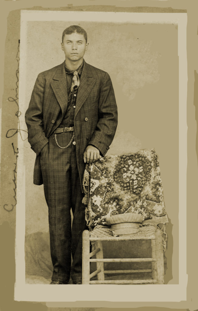 Shared by Robert. Photo was noted as Everette. Others feel it is a young George. Restored by EMP
