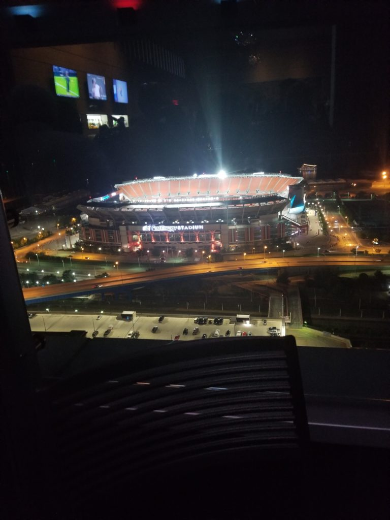Cleveland Brown's stadium from rooftop of the Hilton. Shared by Tim