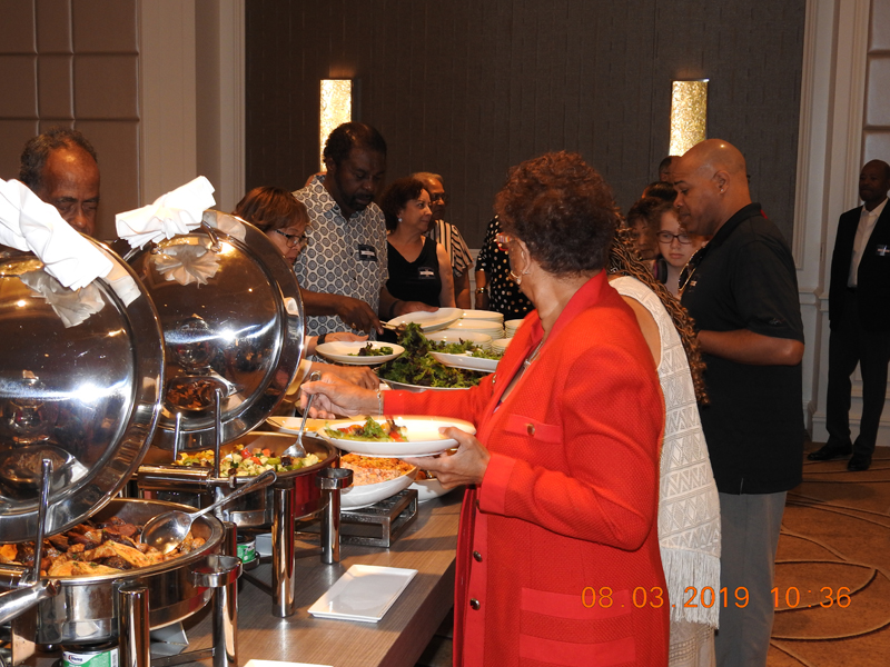 Ritz-Carlton Buffet line, shared by Al