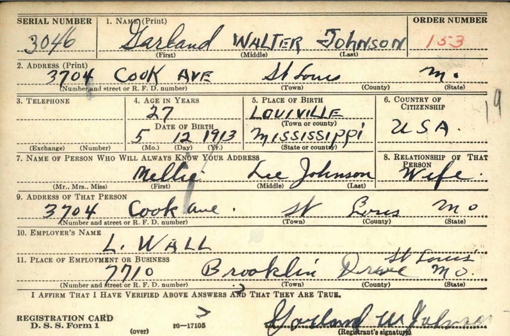 Garland Johnson 1 of 2 , Son of James Edward Johnson and Ida Perrin