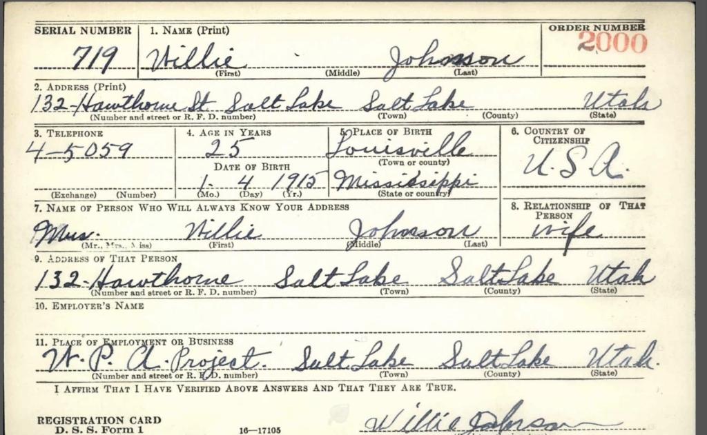 Willie, Son of Hettie Brown and Robert Johnson