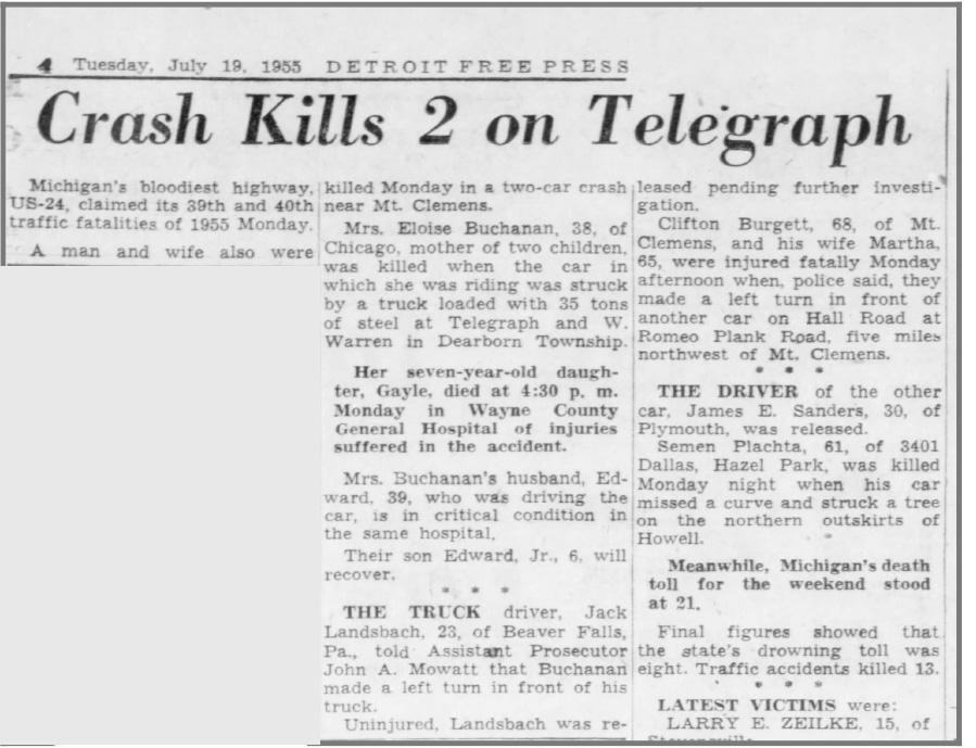 Detroit Free Press 7/19/1955