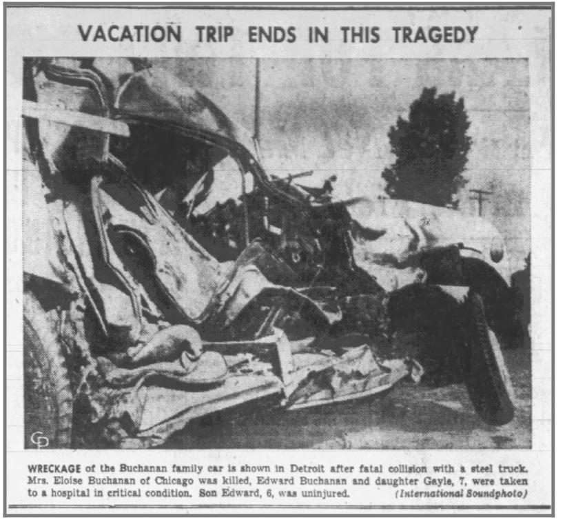Tragic Deaths of Family, Herald Press 7/20/1955 Eloise Johnson