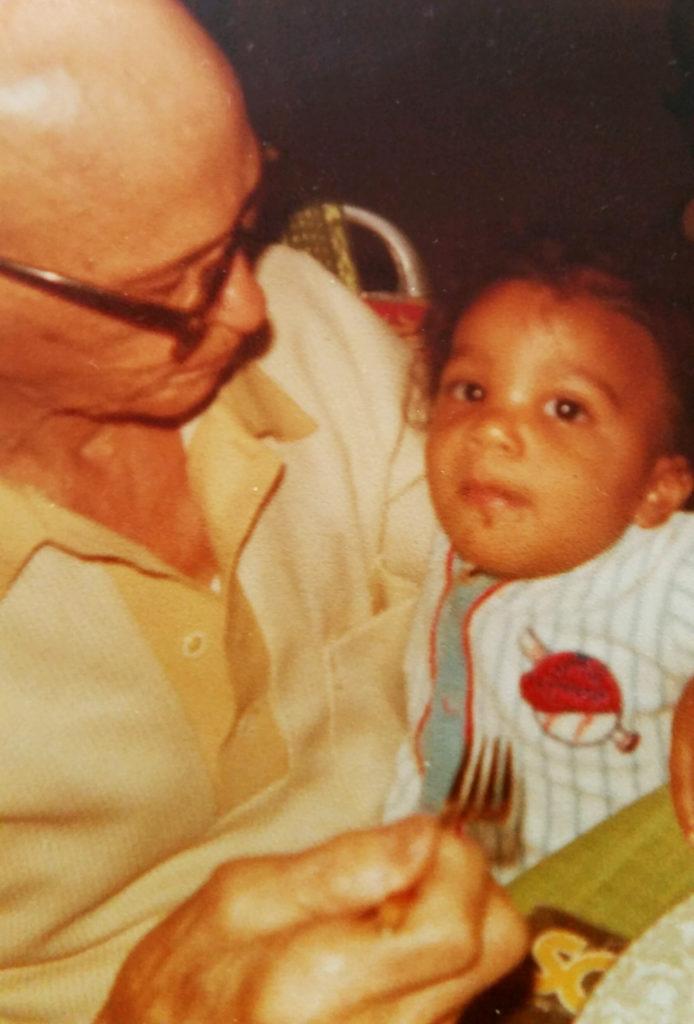 Great Grandfather Fred feeding Yusef F. shared by Yusef