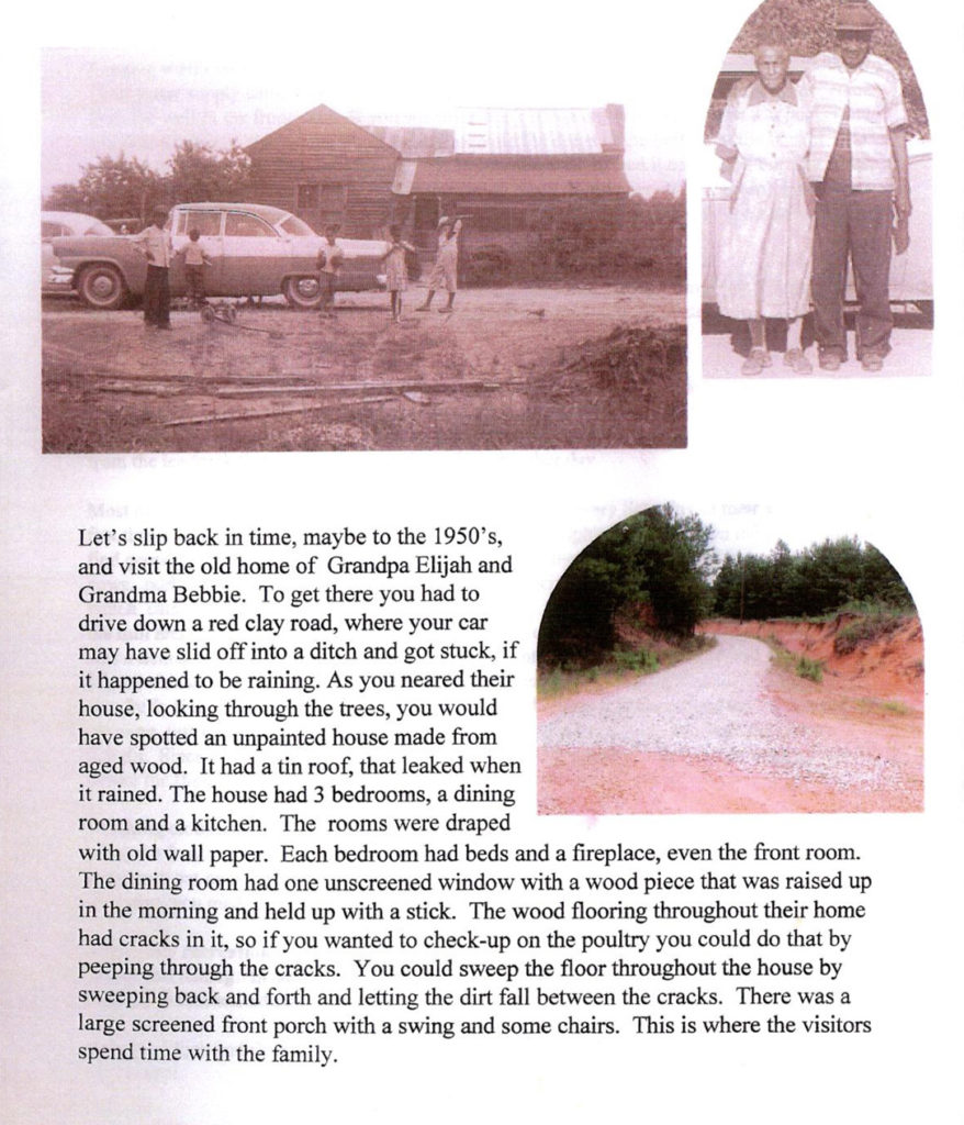 Shared from the (Gloria) Hollins Family History booklet