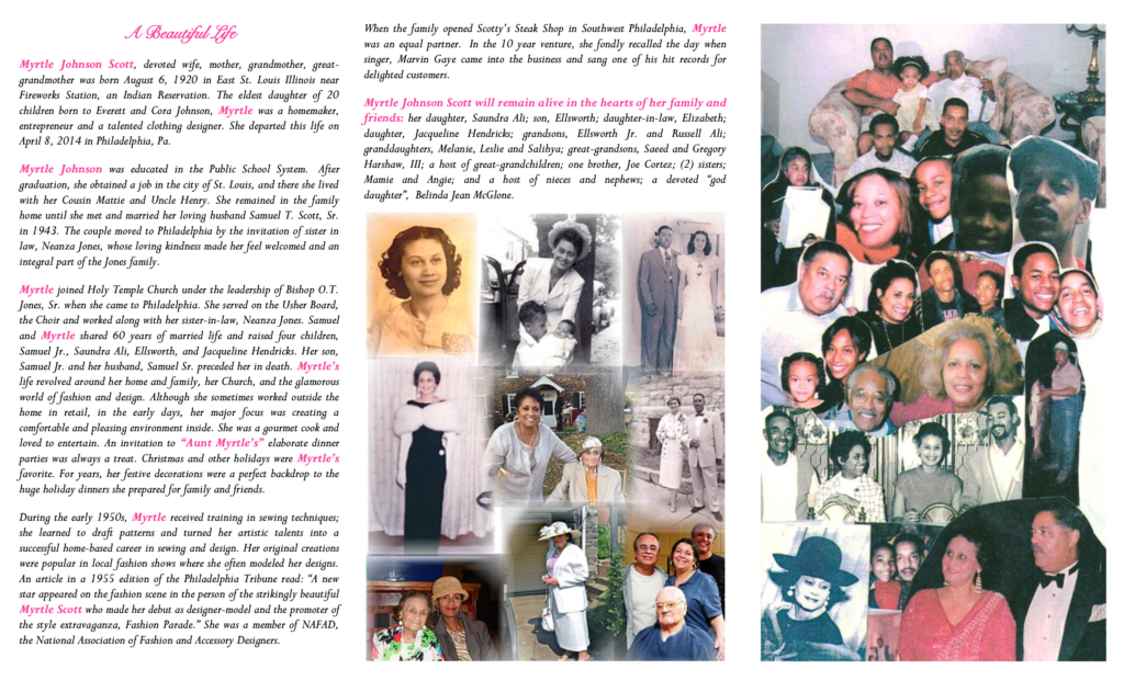 Myrtle Johnson Scott Obituary 2 of 2 from Saundra A.