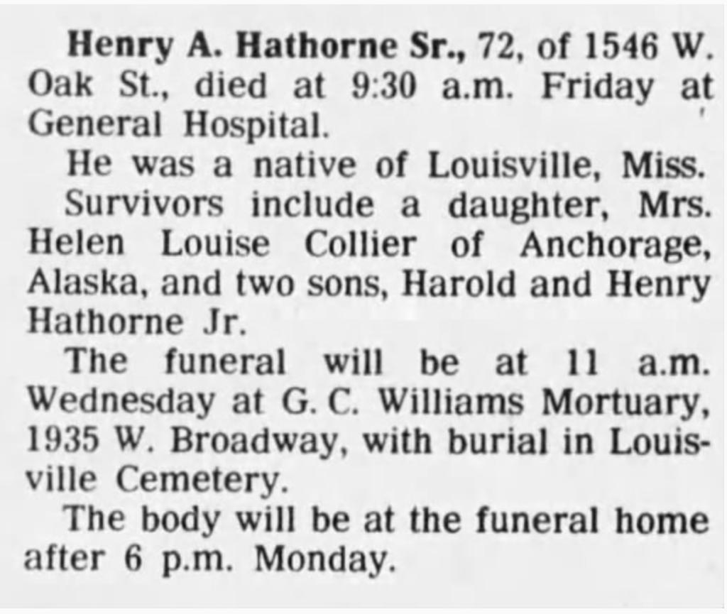 Henry Hathorn -Courrier-Journal Louisville, KY 1-22-1978