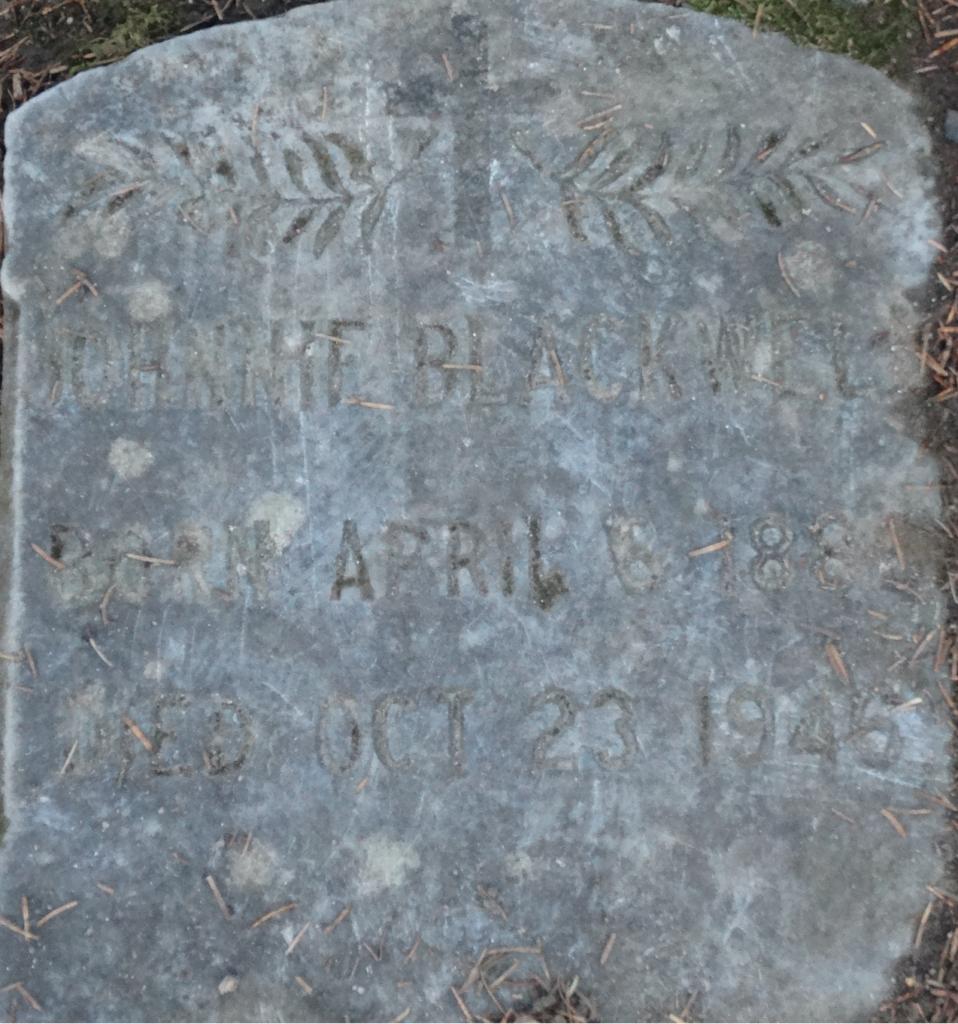 John Hannibal Blackwell gravestone in Alaska