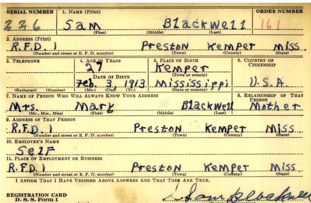 Sam Blackwell