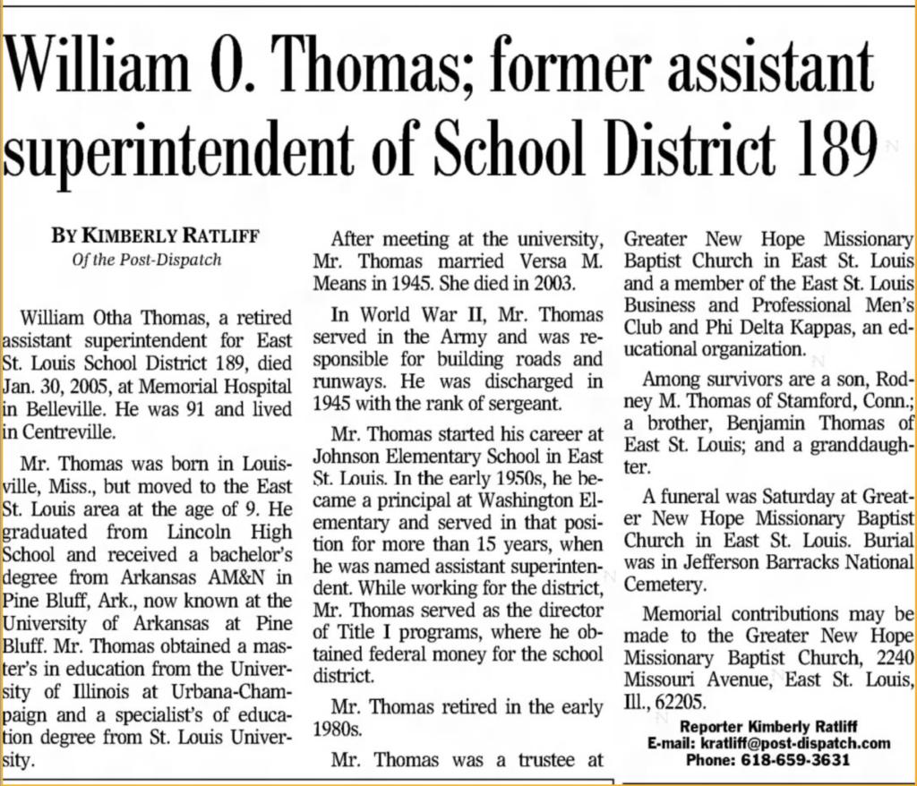 William Otha Thomas son of Georgia Johnson Thomas