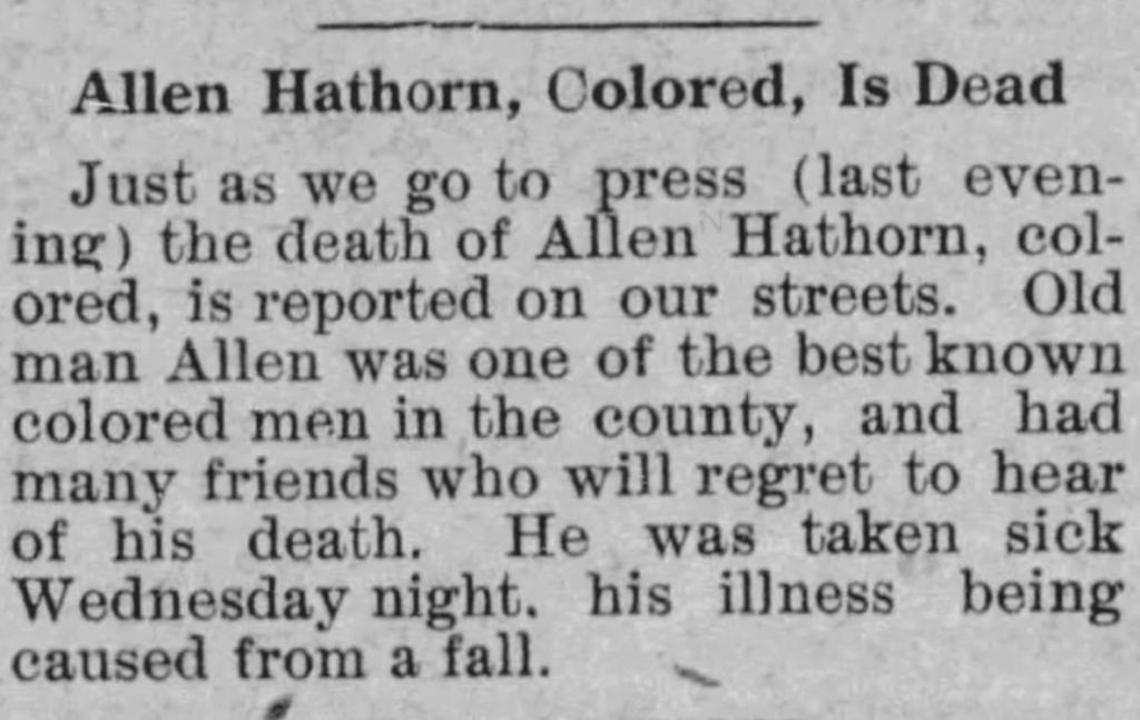 Allen Hathorn 1845-1916 -Winson County Journal