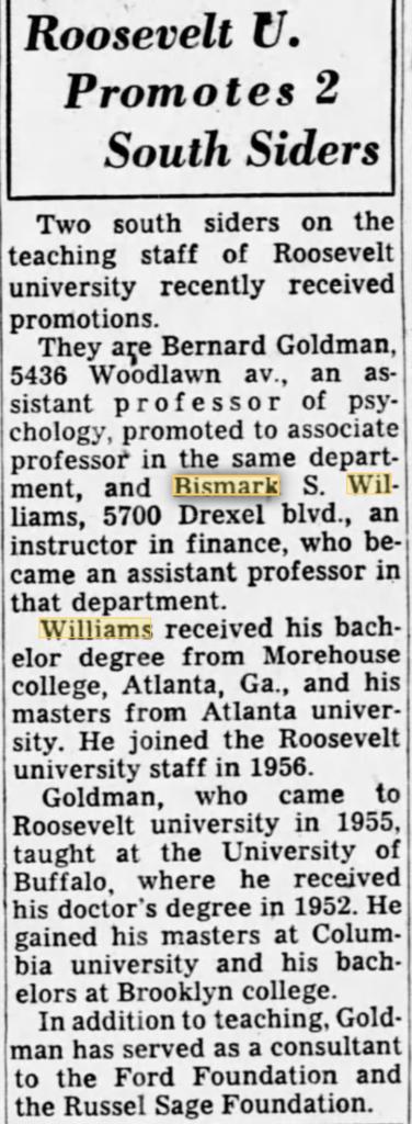 Bismark Williams Sr
