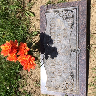 Claudie Cotton gravestone shared by Nan