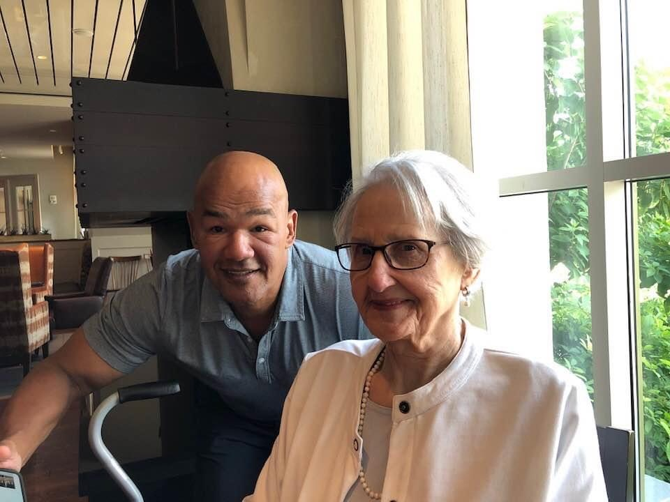 Bertha Louise and nephew Lawrence