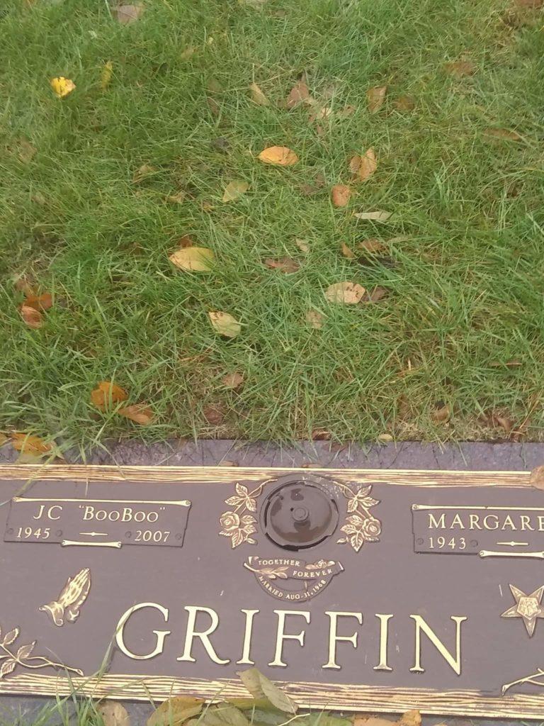 JC Griffin's gravestone