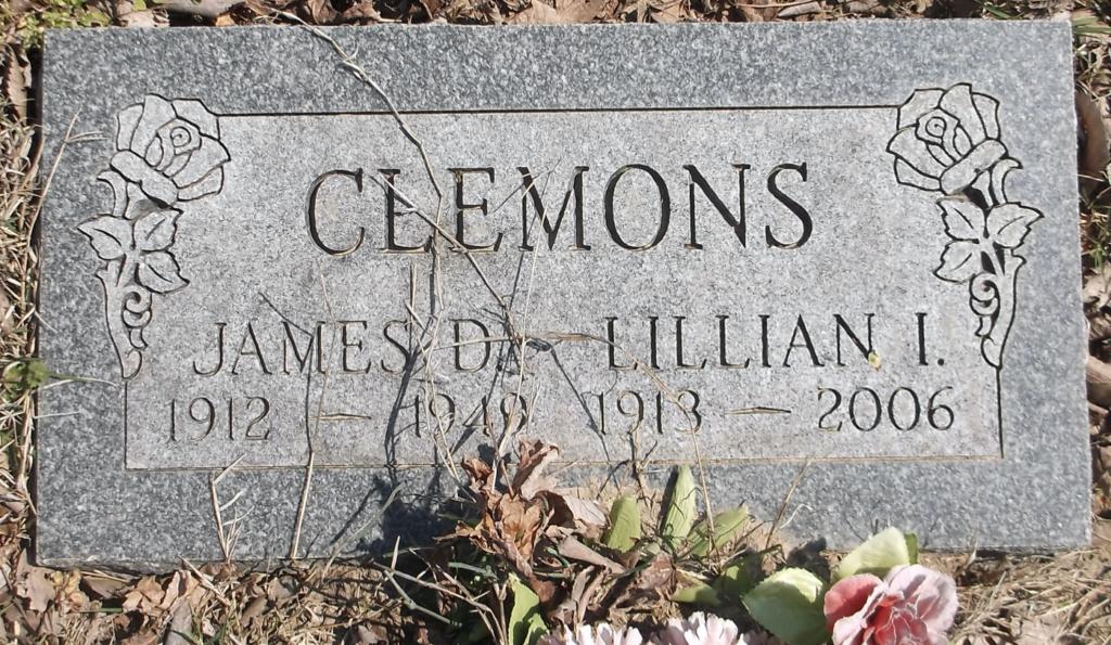 James D. Clemons gravestone