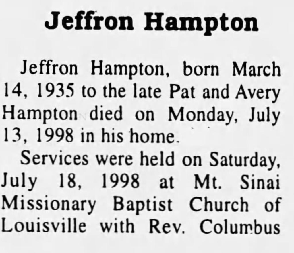 Jeffron Hampton Winston Journal 7-22-1998