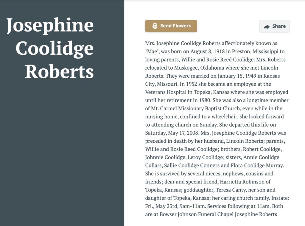 Josephine Coolidge Roberts