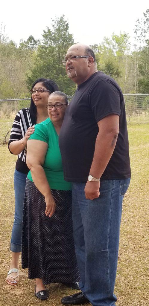 Melinda, Sandra and Kelvin