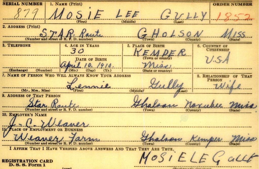 Mosie Lee Gully