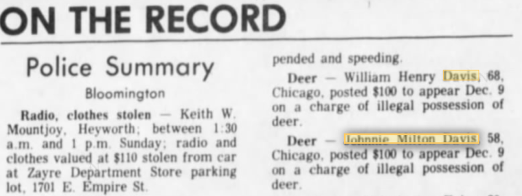 Nov 23, 1981- William and Johnnie Davis