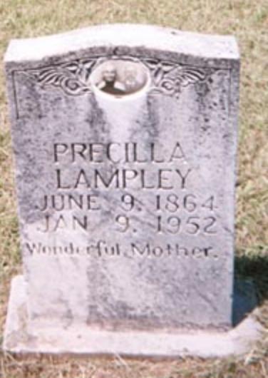 Precilla's gravestone