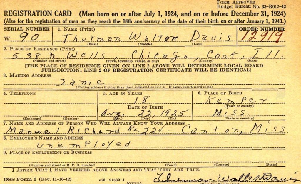 Thurman Walter Davis