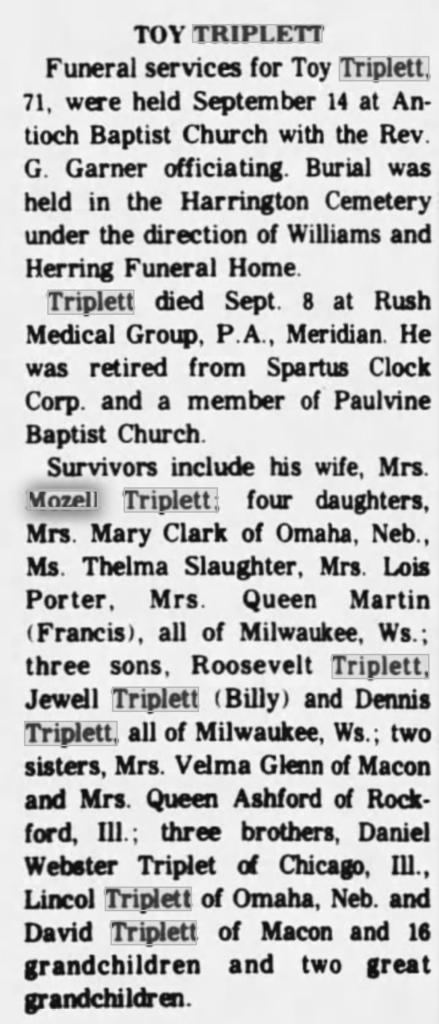 Toy Triplett 10-5-1984 Winston County Journal