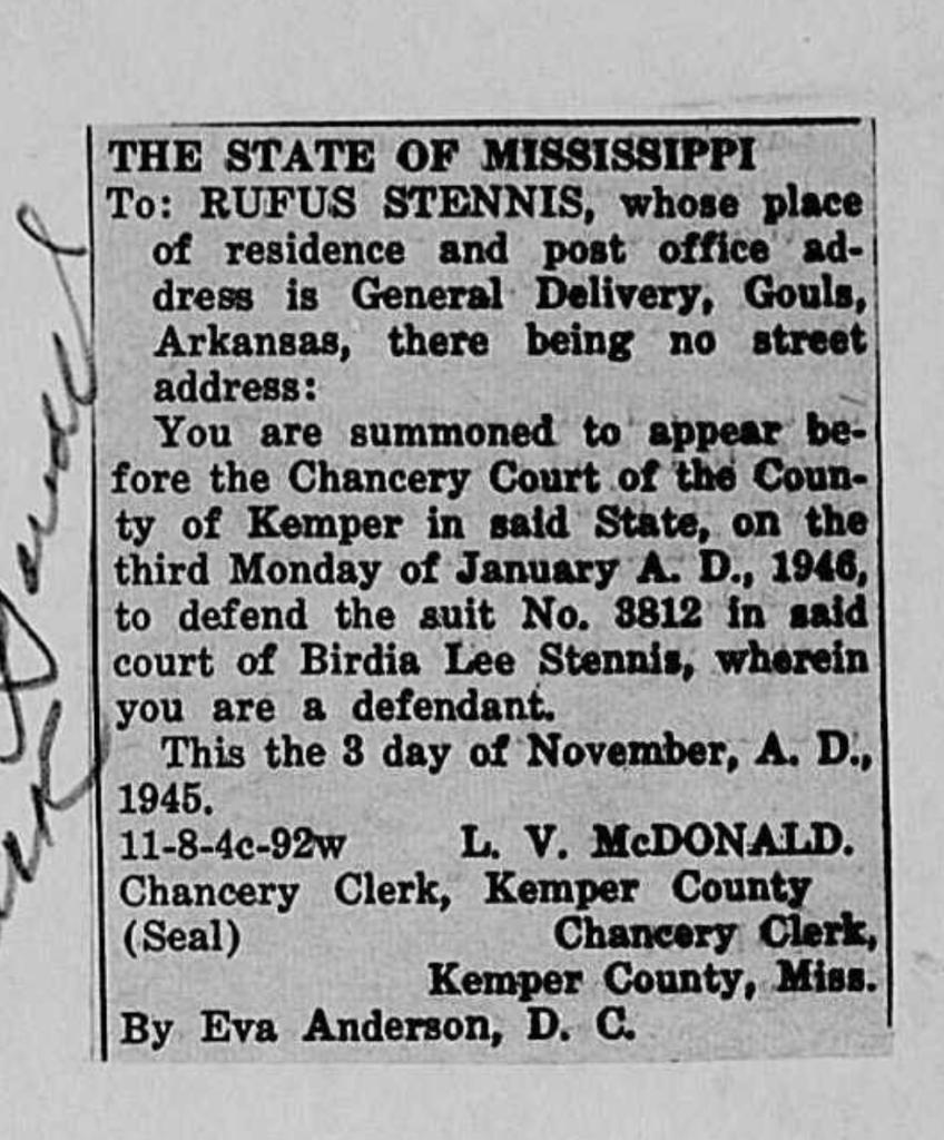 Rufus - Arkansas address