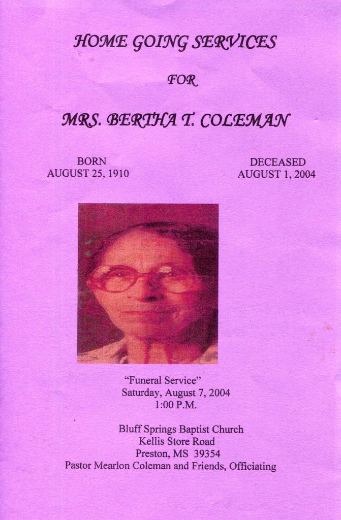 Bertha Turner Coleman 1