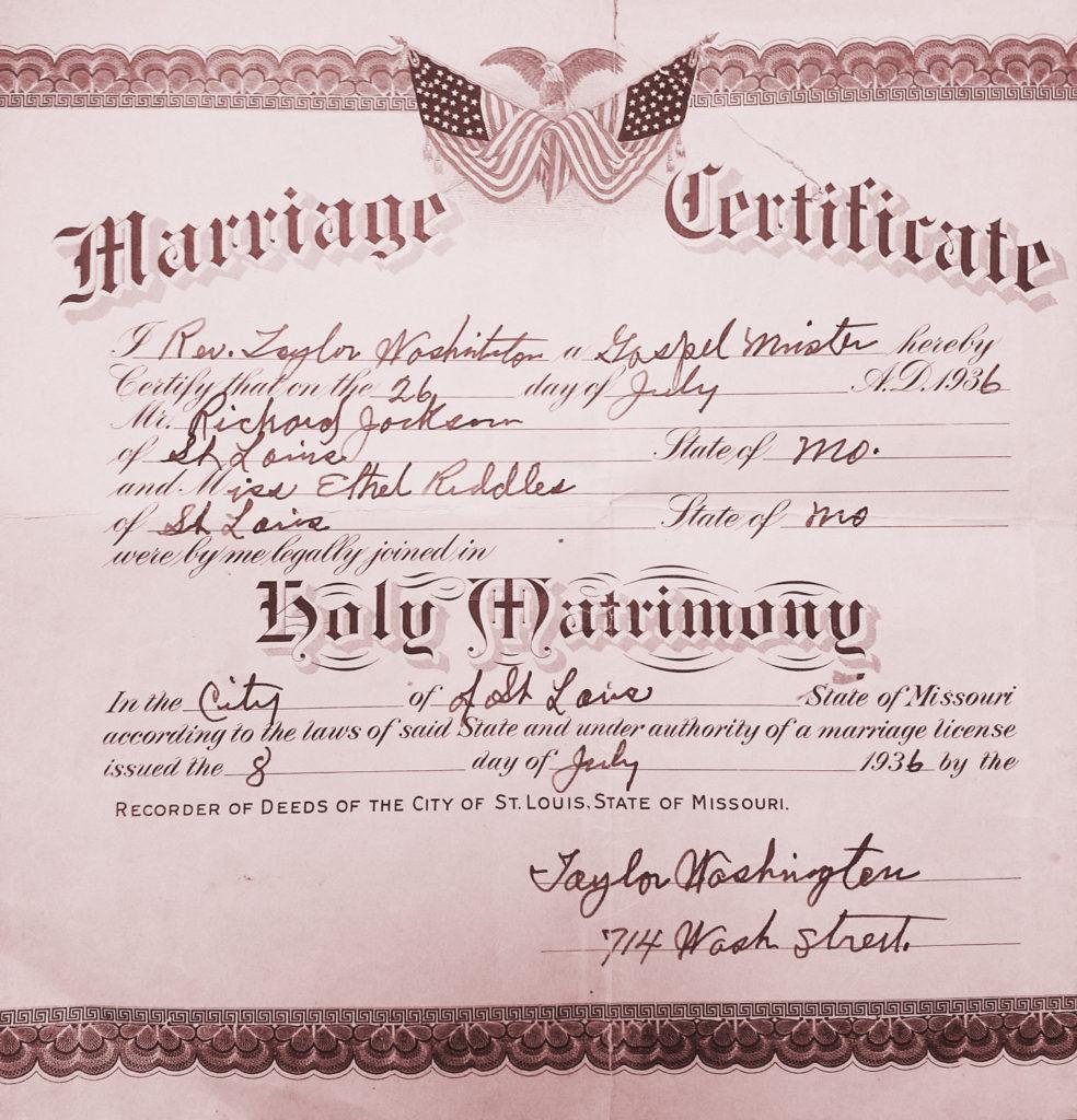 Ethel Jackson marriage
