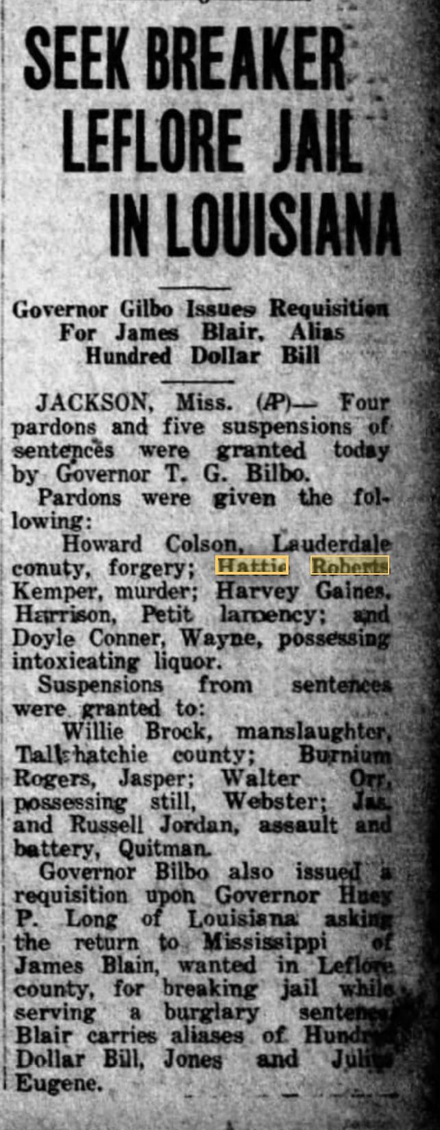 Hattie Roberts 5-18-1931