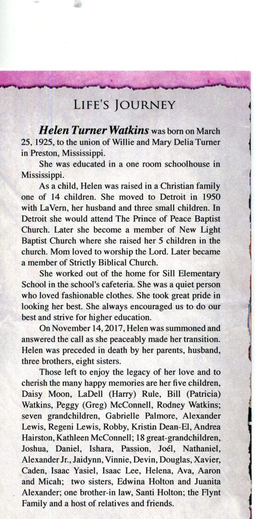Helen Turner Watkins