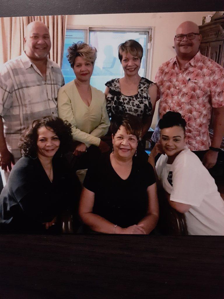 Holmes Family-Top L-R-Charles, Carolyn, Opal, Bobby Btm L-R-Evangeline, Eloise , Susie