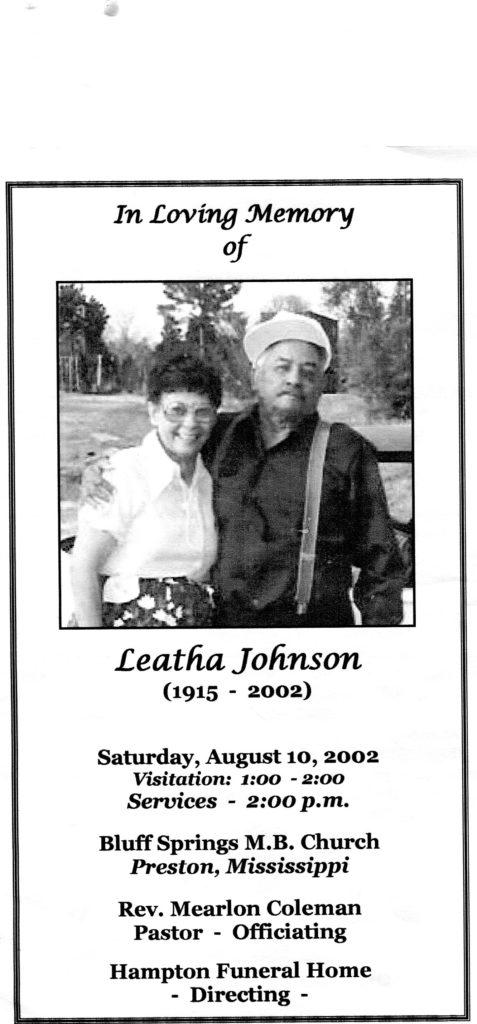 Leatha Turner Johnson