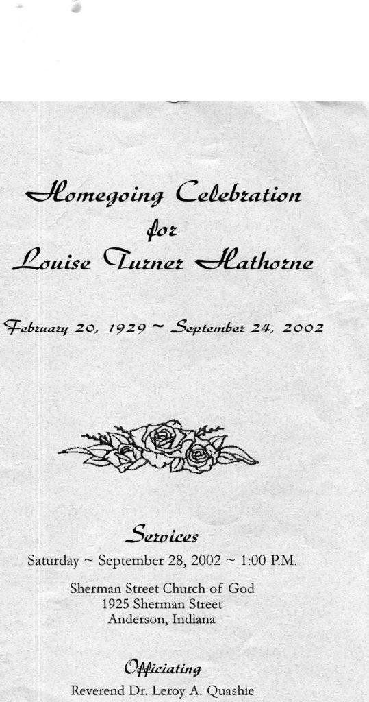 Louise Turner Hathorne-Shared by Juanita