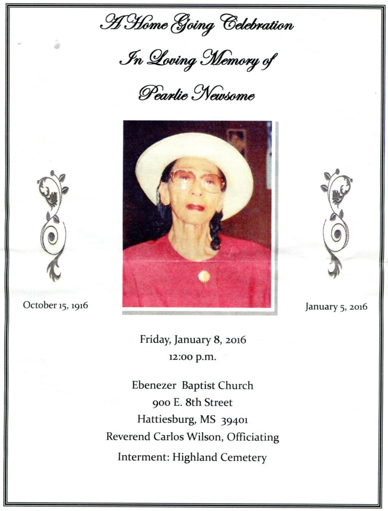 Pearlie Turner Newsome 1 of 2