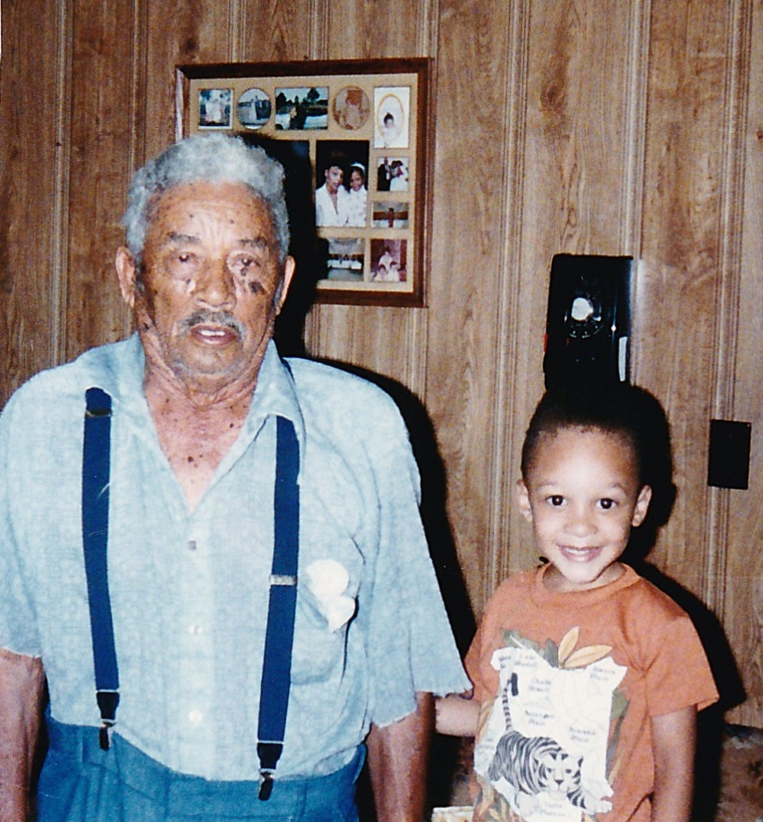 Jack and Great Grandson Marcus Johnson, my son