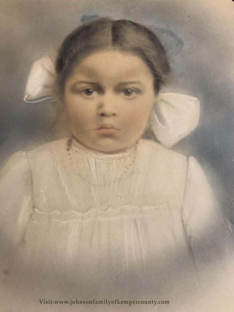 17. Unknown Toddler - Crayon Portrait
