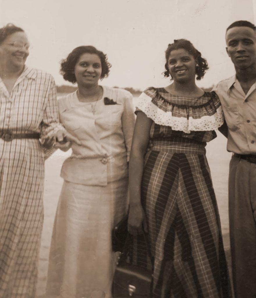 Ruth, Gurtherine(Gert), Ethel (Tiny) Milton (Pete)(1st husband of Ethel)