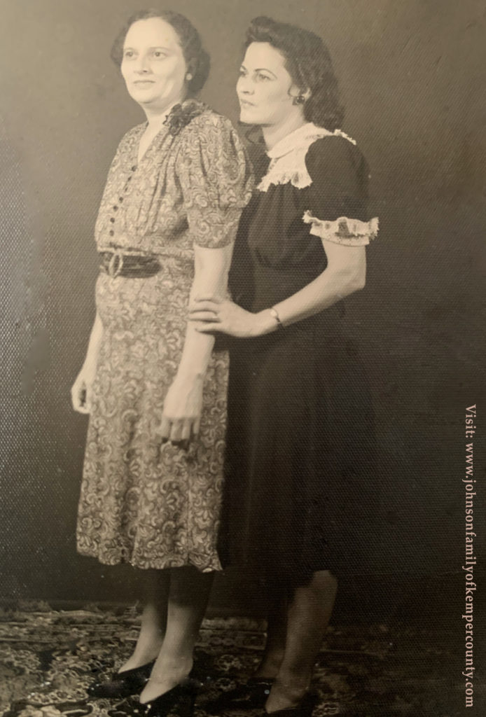 Ruth Johnson and Grace Perryman Roberts -shared by Valarie, slightly restored by emp