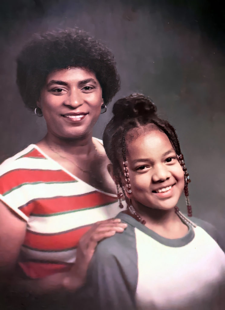 Salena and daughter Shared by Valarie slightly restored by emp