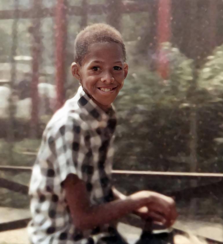 David Bracy as a child, Shared by Angelina -slightly restored-emp
