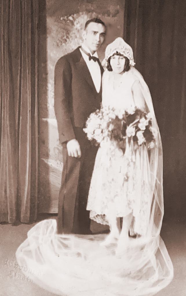 1. Unidentified marriage. It seems to be the 1920's era by the clothing.