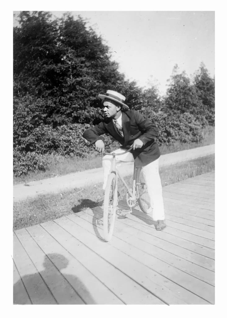 3. Man on Bike, same location