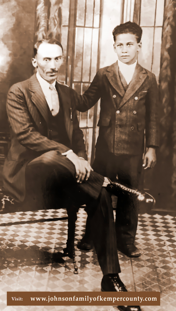 Everette and son Booker T. -Shared by Valarie